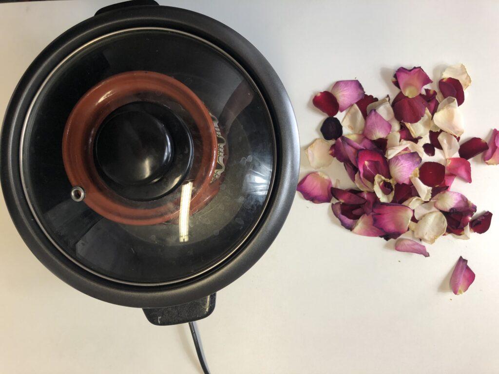 rose petals boil